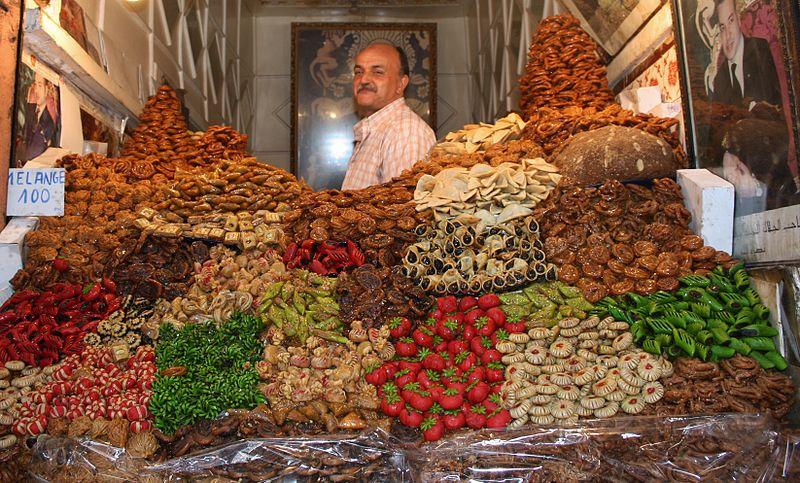 Süßwarenhändler in den Souks