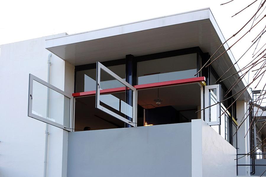 Eckfenster des Rietveld-Schröder-Hauses