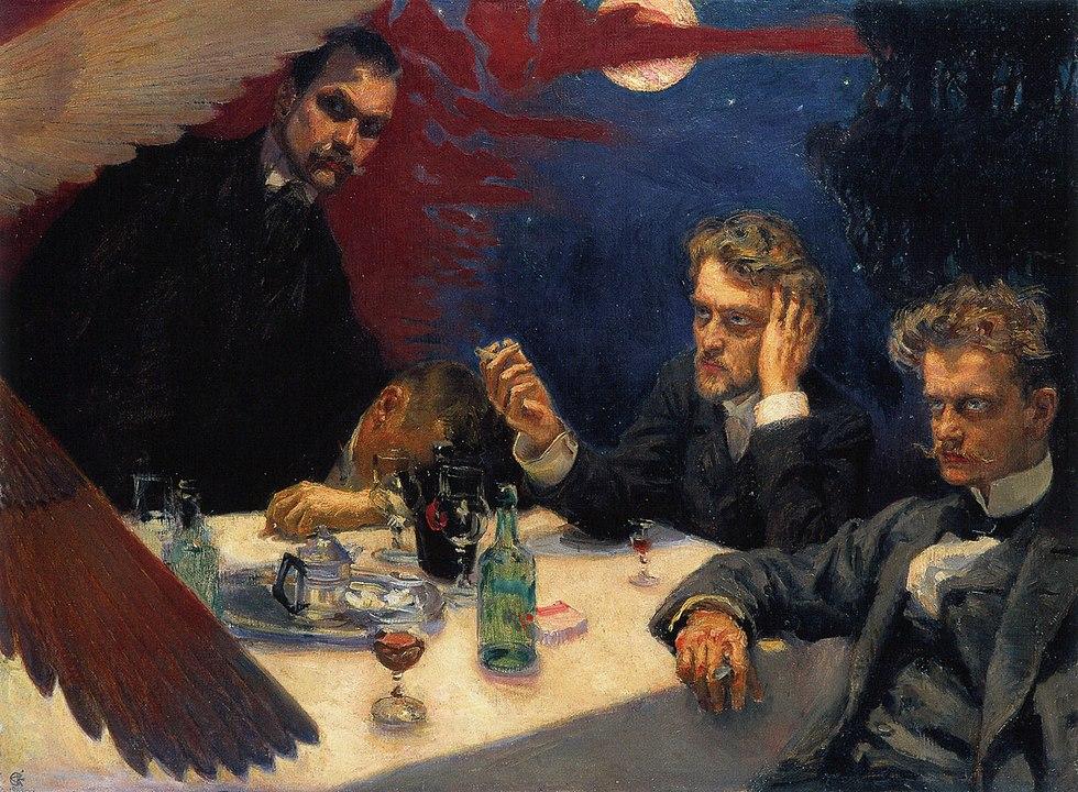 Symposium (1894), Gemälde von  Akseli Gallen-Kallela