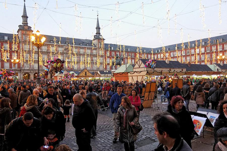 Weihnachtsmarkt in Madrid