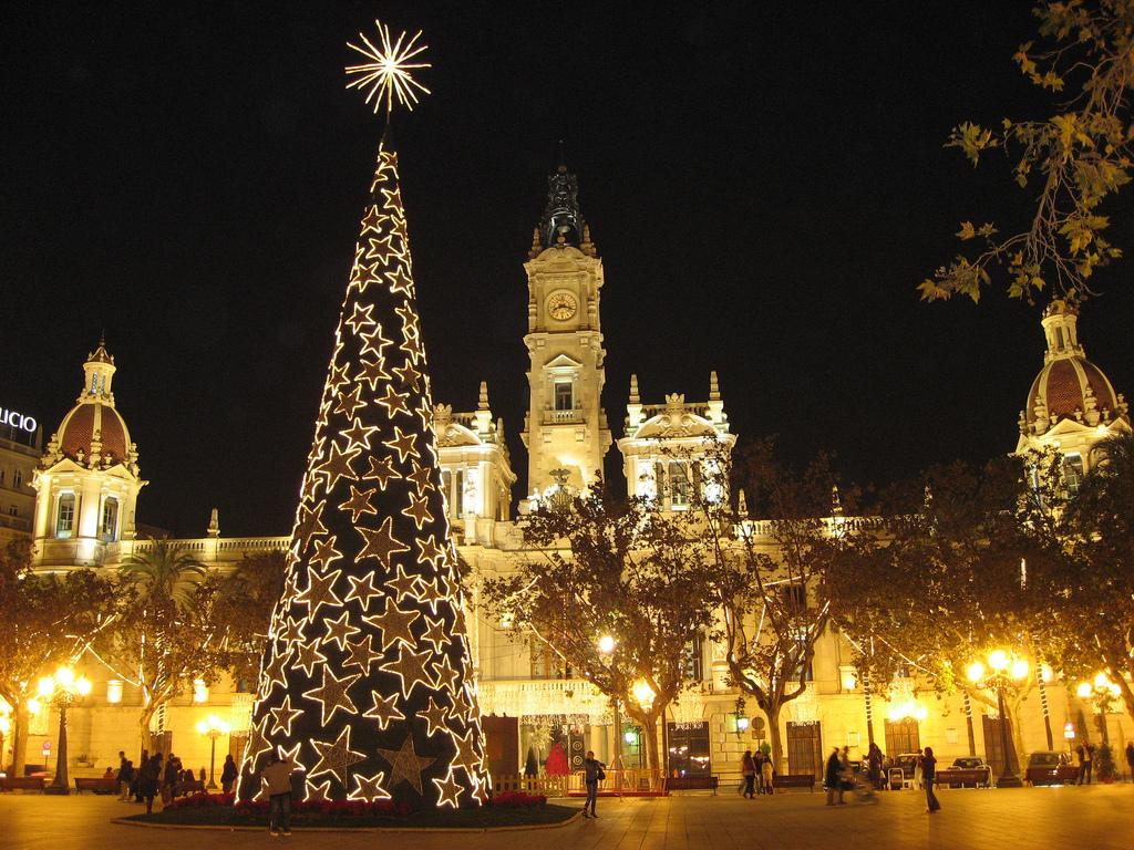 Weihnachtsbeleuchtung in Valencia
